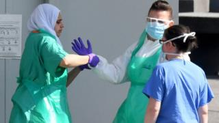 Health workers in PPE