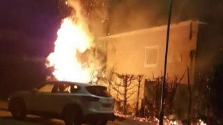 UK SIKH HOUSE AT FIRE
