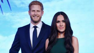 "A brand new waxwork of Meghan Markle is unveiled at Madame Tussauds"" in London"