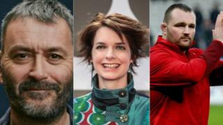 Tudur Owen, Catrin Finch and Ken Owens are to become druids