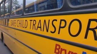 School bus in Wales