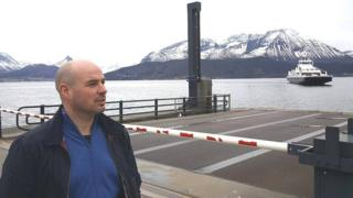 Trond Bonesmo waiting for ferry