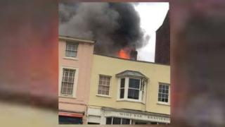 Fire at wine bar in Halstead
