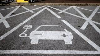 an electric car charging point at Chester Services