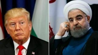 Trump, Rouhani, AS, Iran