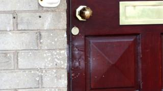 Shots were fired at the front door of a house in Lurgan