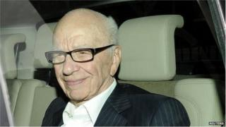 News Corp chairman Rupert Murdoch arrives at his apartment in London 11 July 2011