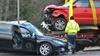 The Hillhead Road is now reopened to traffic after Saturday's crash