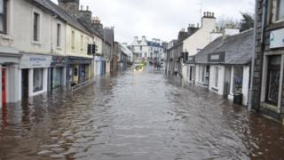 Newton Stewart during flooding