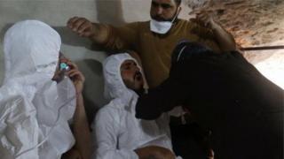 مصابون في الهجوم على خان شيخون