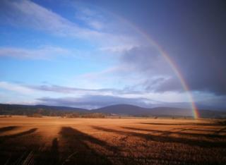 Rainbow in Tarland, Aberdeenshire.