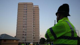 The block of flats where Salman Abedi was said to have been staying in Blackley, Manchester