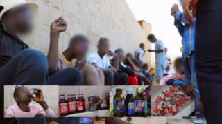 Youths wey dey smoke and dey drink codeine cough syrup