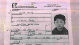 Formulário de viagem em nome de Josef Pwag fornecido pelo MRE via Lei de Acesos à Informação