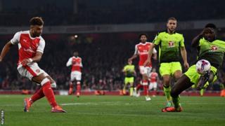 Oxlade-Chamberlain pia alifunga dhidi ya Nottingham Forest raundi iliyotangulia EFL