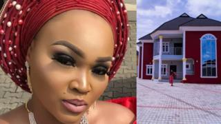 Nollywood actress Mercy Aigbe don chop abuse for internet unto her new house wey some pipo dey claim say na runs work build am. BBC Pidgin ask why e dey be so.