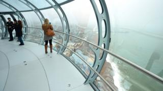 Inside i360 tower
