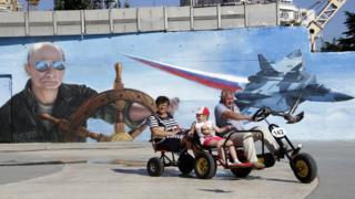 Графіті з Путіним у Криму