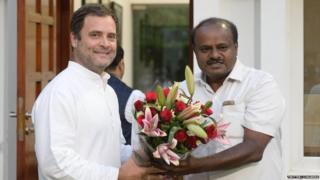 राहुल गांधी कुमारस्वामी