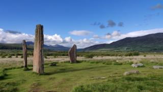 Euan and Meg, from Somerset, visited Machrie Moor stone circle on the Isle of Arran.