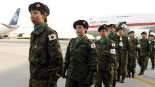 Japon kadın askerler