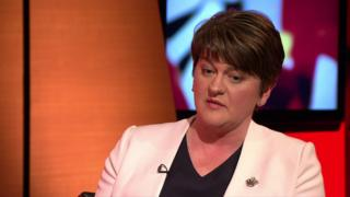 The DUP leader Arlene Foster