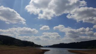 Kele Williams captured the low water levels at the Llwyn Onn reservoir in the Brecon Beacon as the heatwave continued