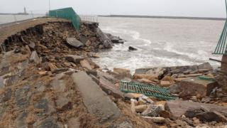 Old North Pier damage