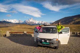 Radka and Ivar in Los Glaciares national park, near El Chalten
