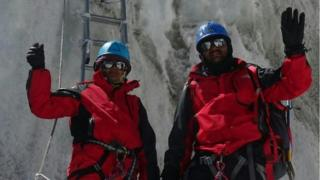 The Rathod couple on Everest