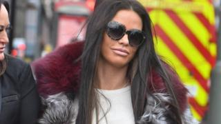 Katie Price arriving at Bromley Magistrates' Court