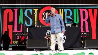 Jeremy Corbyn on Glastonbury stage