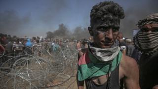 Gazzeli eylemci