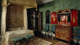 Erddig Hall bedroom restored
