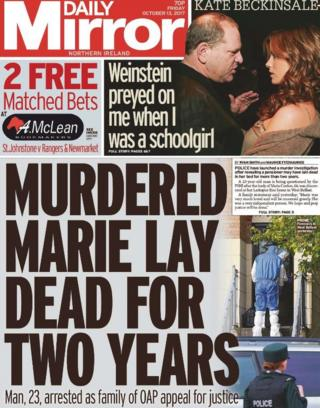 Daily Mirror front page Friday 13 October