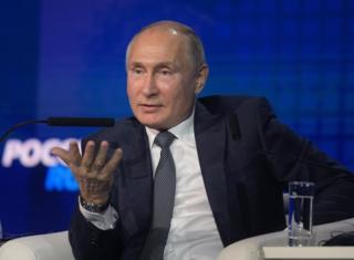 Rusya Devlet Başkanı Vladimir Putin, Moskova'da düzenlenen bir güvenlik zirvesinde konuştu
