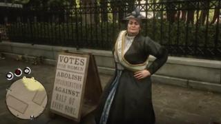 Suffragette in Red Dead Redemption 2