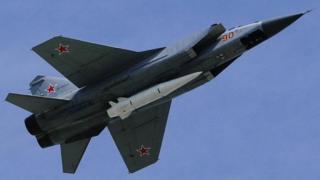 """МиГ-31 с ракетами """"Кинжал"""""""