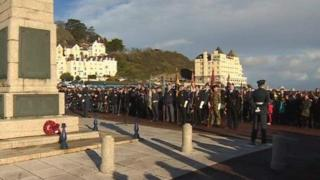 Crowds pay their respects at Llandudno