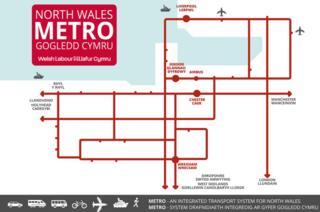 map gan Lafur o fetro gogledd Cymru