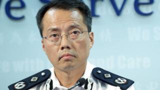 劉業成在香港警察某發佈會上(資料圖片)
