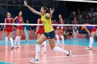 Наталья Перейра из бразильской сборной по волейболу