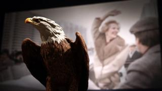 A Kaiser biscuit model of an American bald eagle gifted to Margaret Thatcher by Ronald Reagan