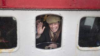 Nigel Farage on a crabbing boat in Grimsby