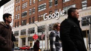 Google's New York office in lower Manhattan.