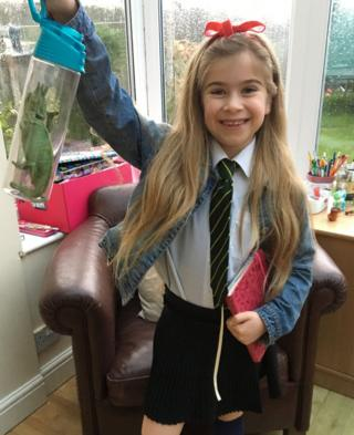 Eight-year-old Martha from Wirral