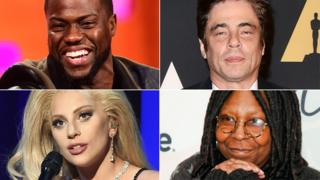 Kevin Hart, Benicio del Toro, Lady Gaga and Whoopi Goldberg