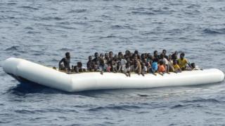 A migrant boat off Libya, 5 Nov 16