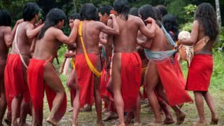 povo wajãpi dança