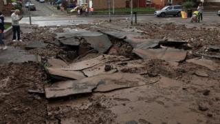 Damage to Beck Street